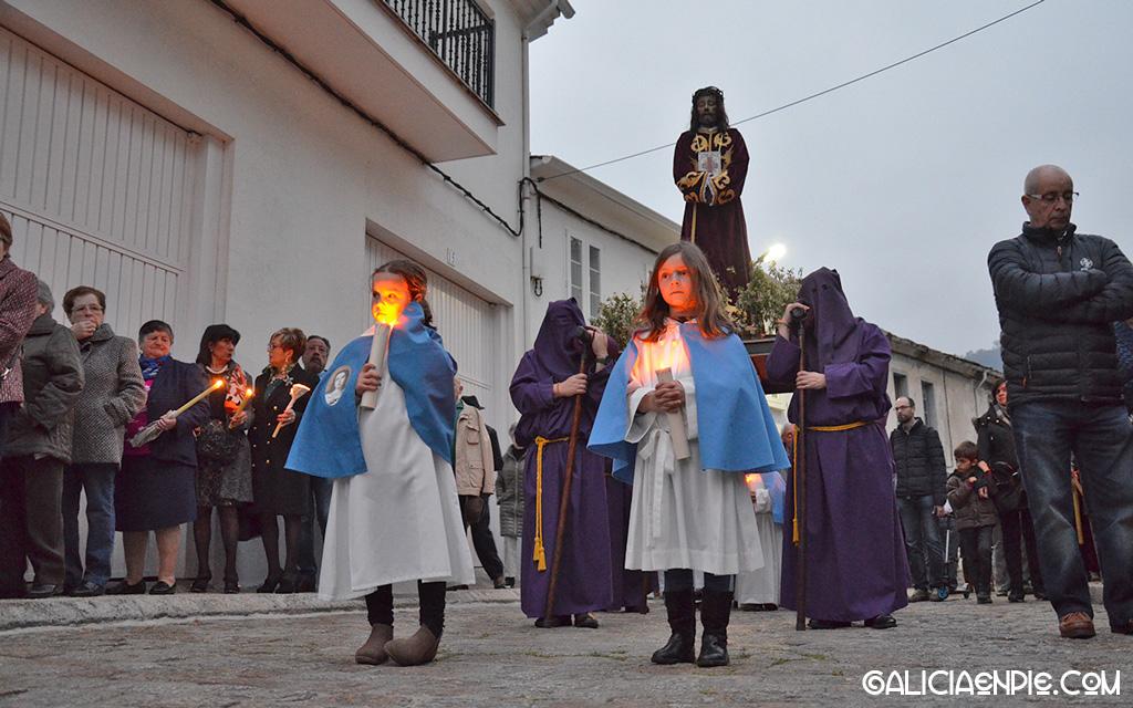 Cristo de Medinaceli. Procesión do Prendemento. Semana Santa en Mondoñedo.