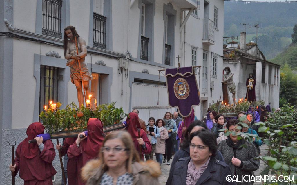 Ecce Hommo. Procesión do Prendemento. Semana Santa en Mondoñedo.