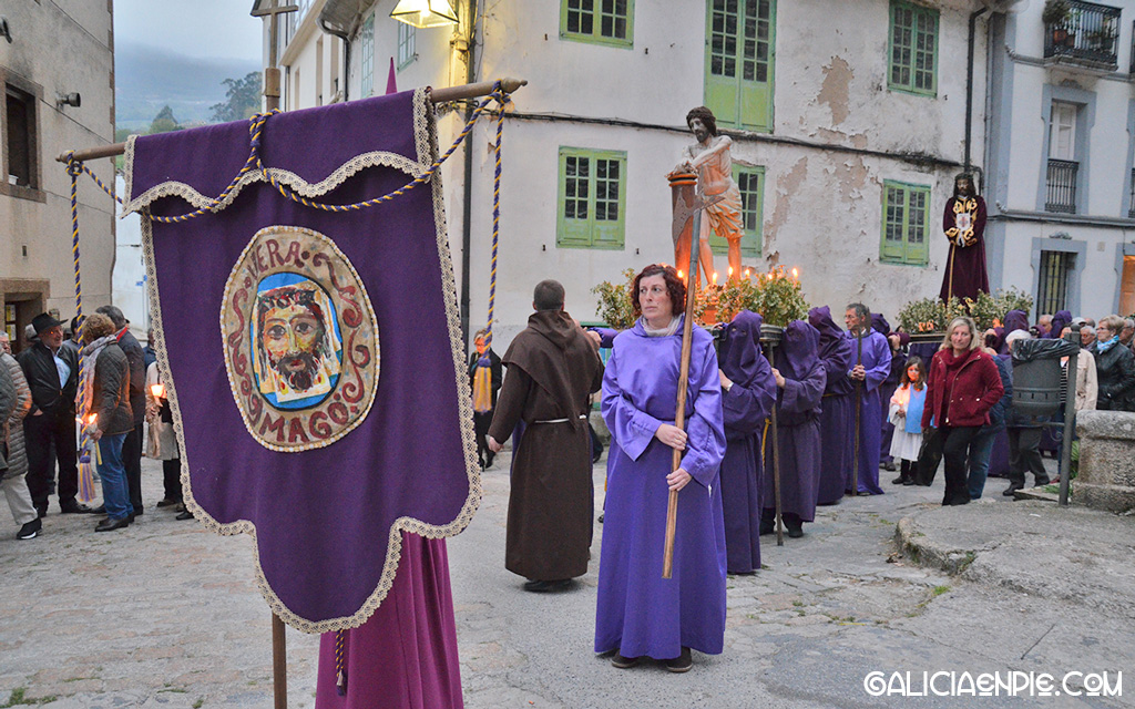 Cristo da Flaxelación. Procesión do Prendemento. Semana Santa en Mondoñedo.