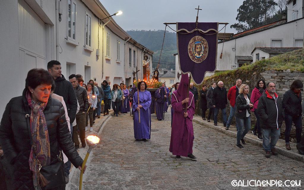 Procesión do Prendemento. Semana Santa en Mondoñedo.