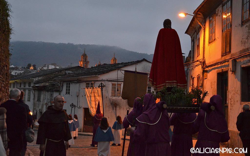 San Juan Evangelista. Procesión do Prendemento. Semana Santa en Mondoñedo.